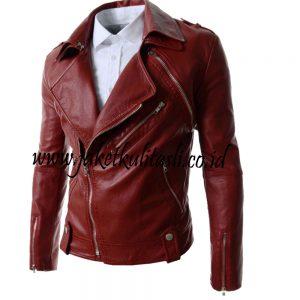 jaket kulit pria A147