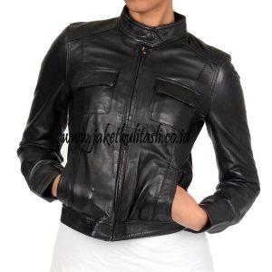 Jaket Kulit Asli Wanita W80