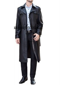 Jaket Kulit Mantel Asli Pria A443