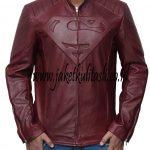 Jaket Kulit Superman A494