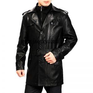 Jaket Kulit Mantel Pria A529