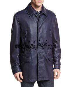 Jaket Kulit Mantel Pria A561