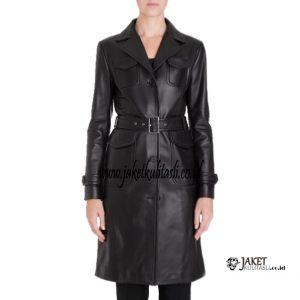 Jaket Kulit Mantel Wanita W150