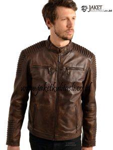 Jaket Kulit Bikers Pria Terbaru A759