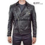 Jaket Kulit Ramones Pria Asli A773