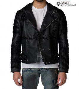 Jaket Kulit Ramones Pria Asli Garut A779