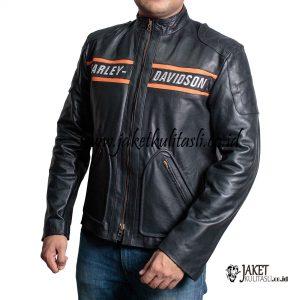 Jaket Kulit Bikers Harley Davidson Pria Asli A797