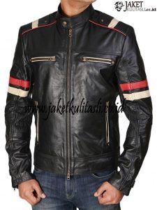 Jaket Kulit Bikers Pria A849