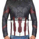 Jaket Kulit Hero Captain America A879