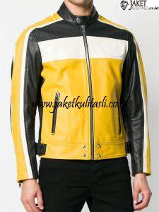 Jaket Kulit Kombinasi Warna A898
