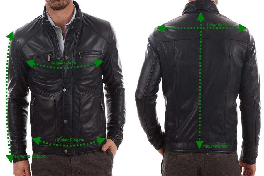 ukuran jaket kulit asli