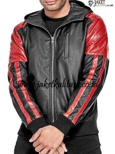 Jaket Kulit Hoodie Motor A903