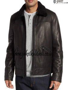 Jaket Kulit Bulu Bulu A945