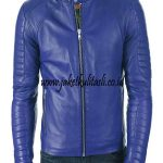 Jaket Pria Kulit Domba Biru Muda A975